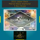 Alll Other Character Sketches 2021 UD Marvel Black Diamond 5 Box Break #2