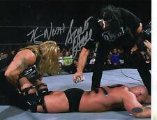 KEVIN NASH & SCOTT HALL LEAF AUTHENTICS SIGNED WWE 8X10 ON PHOTO AUTOGRAPH COA