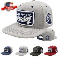 Skateboard Snapback Hats for Men Adjustable Size Flat Bill Baseball Cap