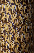 "5 yds 1"" MINNESOTA ZEBRA PURPLE AND YELLOW GOLD FOOTBALL GROSGRAIN RIBBON"