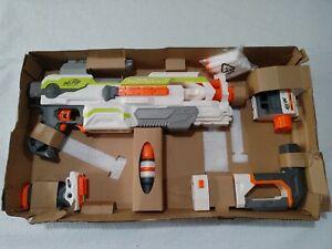 NERF N-STRIKE MODULUS ECS-10 BLASTER DART GUN with Attachments