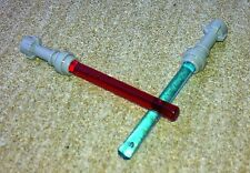 2 LEGO light sabres - red and blue - star wars original lego