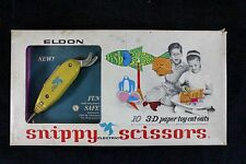 Vintage Game Circa 1960's Snippy Electric Scissors with 3-D Paper Toy Cut-outs