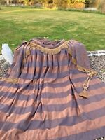"""Large Beautiful Silk Interlined Curtains c/w swags & Tails 91""""d x106""""w per panel"""