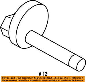 CHRYSLER OEM Rear Suspension-Link Rod Rear Bolt 6510186AA
