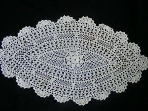 Oval Tischläufer Gehäkelt Baumwolle Tischdecke Deckchen Landschaft Praktisch