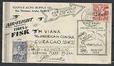 Curacao covers 1934 attractive 1st Flightcover Aruba to Curacao