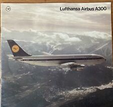 LUFTHANSA AIRLINES A300 BROCHURE 1976 CABIN CREW ROUTE MAP CUTAWAY SEAT CHART