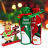 Red Wine Bottle Cover Bag Ornament Gift Decor Home Party Santa Claus Christmas P