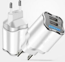 2 Ports USB  EuropeanPower Adapter EU Plug Home Wall Charger for iPhone Android