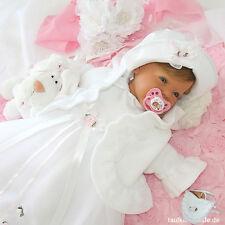 Taufkleid Lilly mit Taufjacke, Hut,Tasche für Taufe,Taufkleider 62,68,74,80,86 ♥