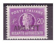 TRIESTE A - 1949  RECAPITO AUTORIZZATO   LIRE  20  NUOVO **