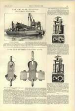 1887  Dredger Dolphin King Humble Colliery Safety Hook Okes Ryde Hotair Engine