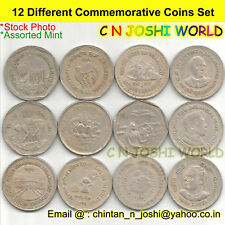Very Rare 12 Different Copper Nickel 1 Rupee Commemorative One Rupee Coins Set