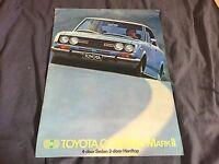 1968 1969 Toyota Corona Mark 2 USA Market Color Sales Brochure Catalog Prospekt