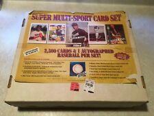 Lenny Dykstra Autographed Baseball 2500 Card 25 sealed sets 1992 ALI The BUS LOT