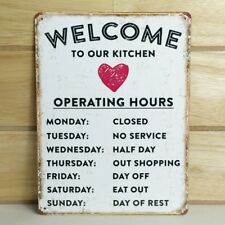 Kitchen Humorous Metal Plaque Vintage Sign Tin Retro Wall Shabby Chic Funny Gift