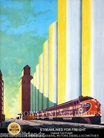 Chicago Northwestern CNW  Chicago Great Western CGW Railroad train Poster