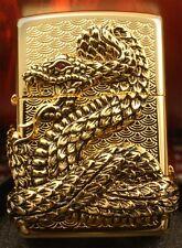 SNAKE COIL GOLD Free Gift Set(Shipping,Flint,Wick) Zippo Lighter Korea