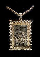 A fashion custom chain & pendant plated Islamic jewelery with rhinestone