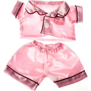 8-10 inch Pink Satin Pyjamas / PJs - teddy bear stuffed animal clothes sleepwear