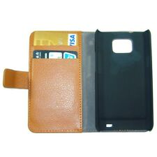 Brown Credit Card Wallet Leather Case Skin for Samsung Galaxy S II 2 i9100 S2