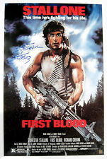 Sylvester Stallone Autographed RAMBO FIRST BLOOD 24x36 Movie Poster ASI Proof