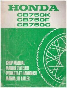 Suplemento Manual De Oficina Honda CB750FB CB750KB CB750CB 1982