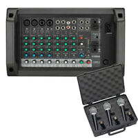 Yamaha EMX2 10-Input 250W Powered Mixer Bundle W/ Microphone 3-Pack *New*