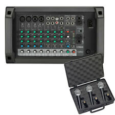 Yamaha EMX2 10-Input 250W Powered Mixer Bundle W/ Microphone 3-Pack *New*