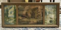 Circa 1900 George W. Turner Nature Prints in Triptych Gilded Wood Frame