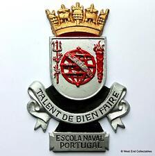 Escola Naval Portugal-Armada portuguesa Escuela Metal Tampion Placa Insignia Crest