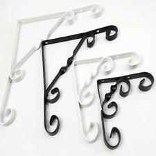 Ornamental Scrolled Metal Shelf Brackets In Black Or White Scroll Choice Sizes