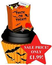 12 NOVELTY HALLOWEEN STAND UPS Trick Or Treat Bag Edible Image Cake Toppers Fun