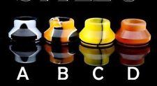 Orange and Black (B) Summit Chuff Cap 24 Drip tip Wide Bore, Slam Cap, Drip Tip