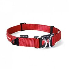 EzyDog Double up Collar Genuine and Quality Dog Collars Extra Large Red