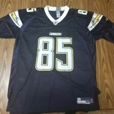NFL San Diego Chargers Antonio Gates #85 Navy Blue Reebok Jersey Size 2XL Mens