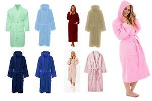 Mens/Ladies Bathrobe 100%Cotton Terry Towelling Shawl/Hooded Dressing Bath Robes