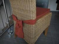 Stuhlkissen 40 x 40 x 4 cm Sitzkissen terrakotta mit Schleife