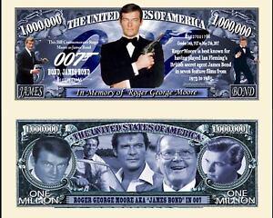 JAMES BOND ROGER MOORE BILLET MILLION DOLLAR US Collection 007 Acteur Film Serie
