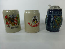 Beer Steins lot of 3 Germany Gerz, Rastal 1 lidded