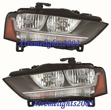 AUDI A4 2012-2016 PAIR LEFT RIGHT HALOGEN HEADLIGHTS HEAD LIGHTS LAMPS