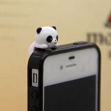 New  Cute Climbing Panda Dust Proof phone plug Cover Charm (3.5mm)