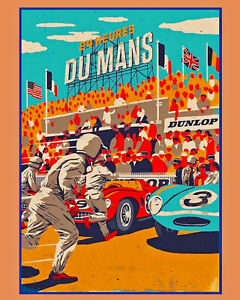 1954 24 Hour French Le Mans Grand Prix Wall Art - 8x10 Photo