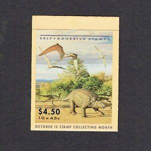 1993 Australia's Dinosaur Era Self Adhesive Booklet 10 x 45c MUH/MNH