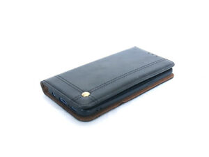 Luxury Samsung S9 Real Leather Wallet Card Slot Stand Function Black