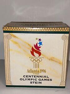 ANHEUSER BUSCH BUDWEISER 1996 ATLANTA OLYMPIC CENTENNIAL STEIN WITH BOX