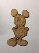 Wooden Mickey Mouse 3mm Mdf Laser Cut characters craft Blank Shape