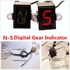 Professional Motorcycle N-5 Speed LED Digital Gear Indicator Shift Lever Sensor
