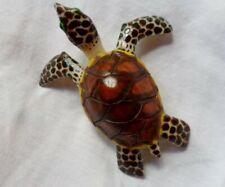 Wounaan Embera Large Tagua Sea Turtle Carving-Panama 20051515mm